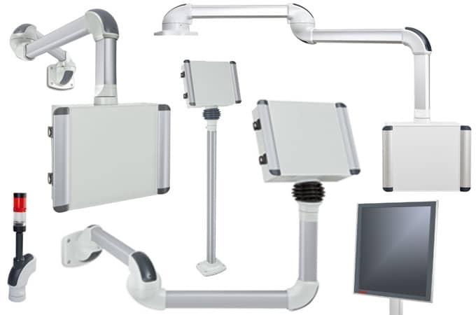 Flexibelt och snyggt bärarmsystem med många möjligheter.