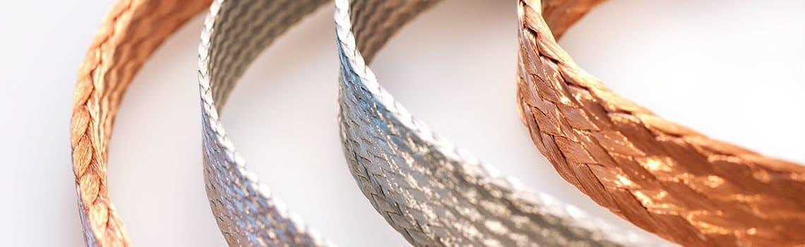 flat copper braid