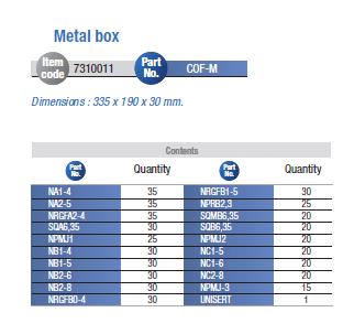 metalllådakabelskor