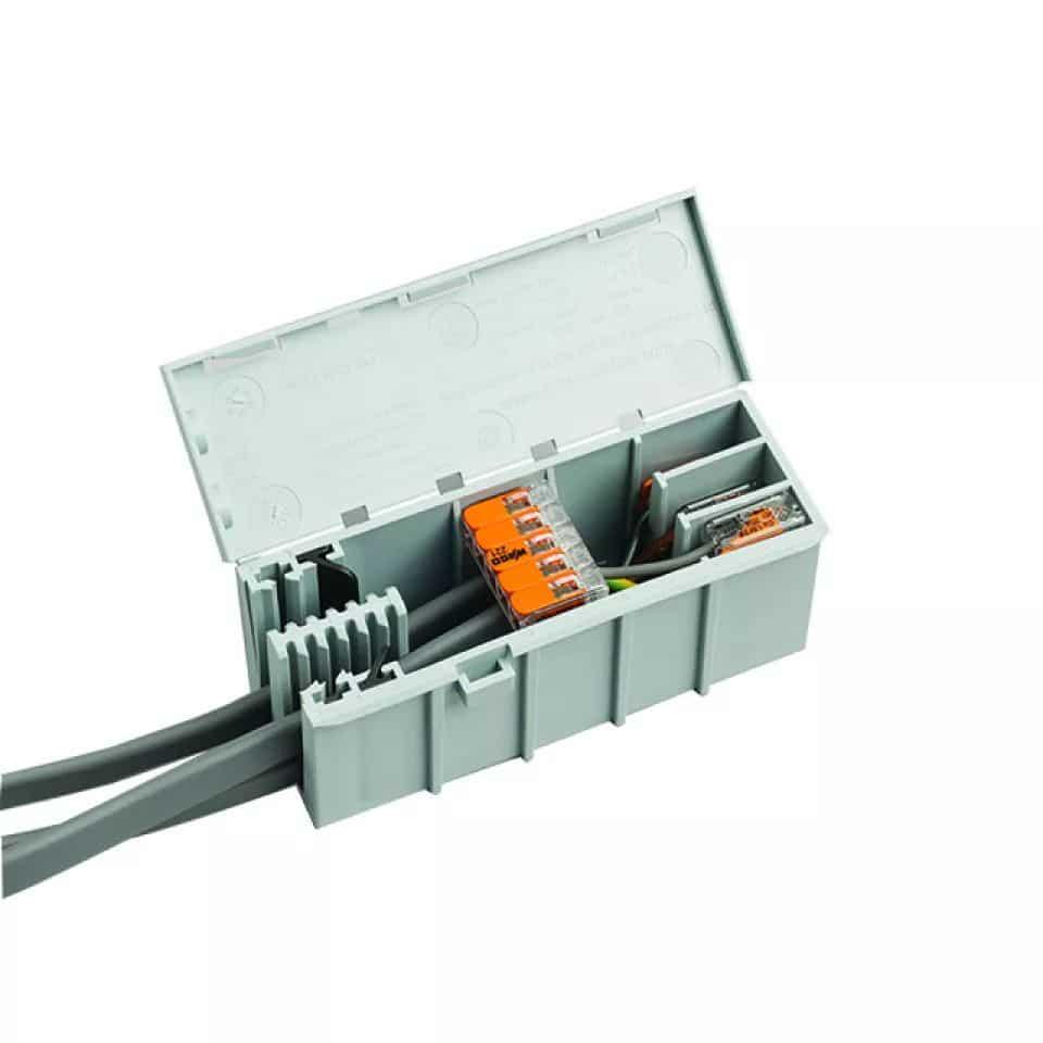 Snyggt och enkelt förpackat med kapslingen för WAGO221 serien